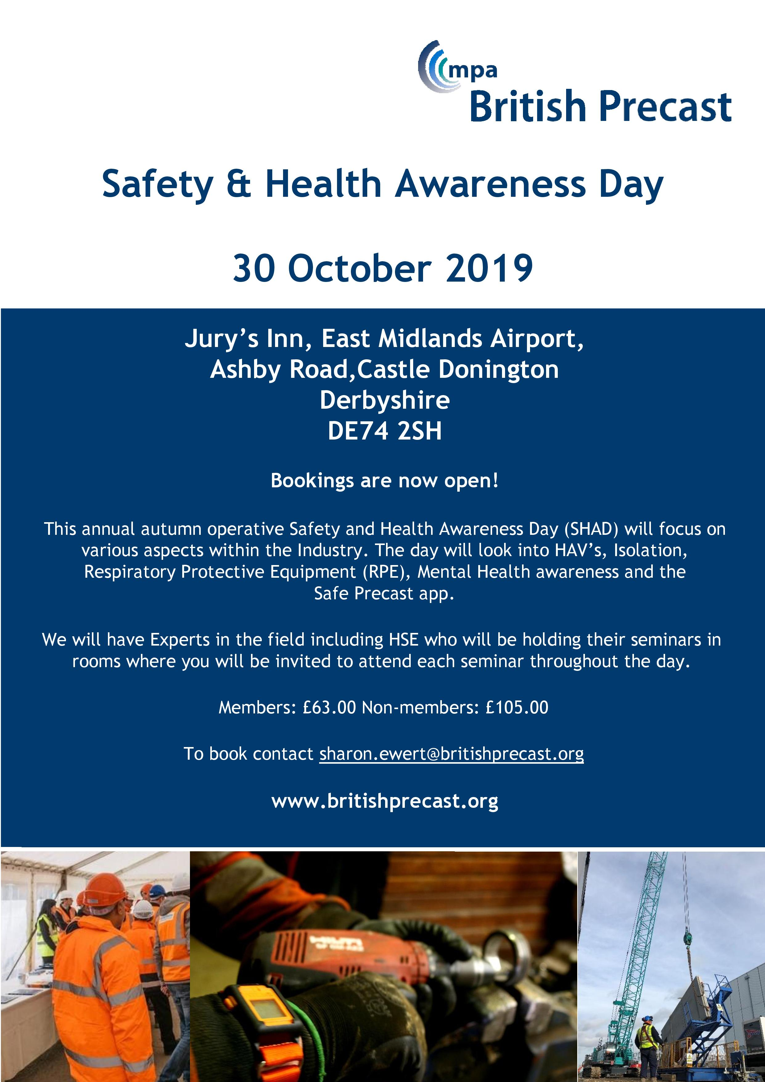 Safety Health Awareness Day Flyer October 2019